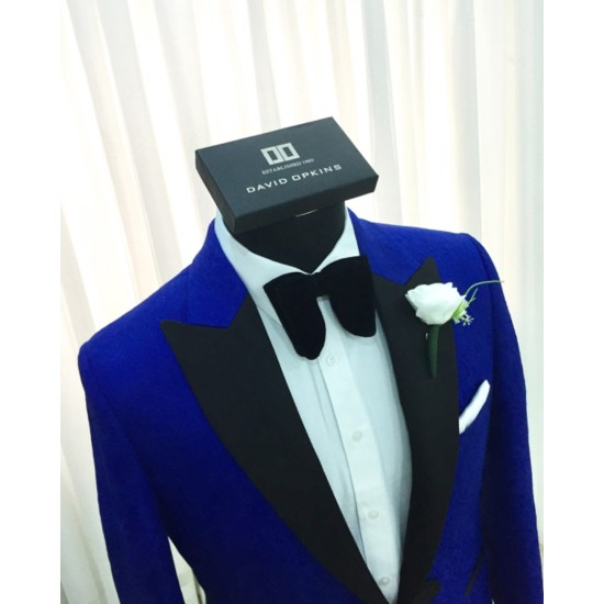 DavidOpkins Royal Tuxedo with Black Peak Lapel