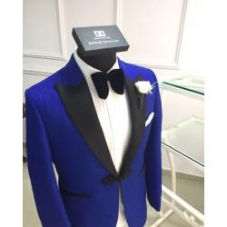 DavidOpkins Royal Tuxedo with Black Peak Lapel