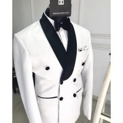 Black Velvet Shawl Lapel Ivory Tuxedo