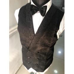 Black Jacquard Waist coat